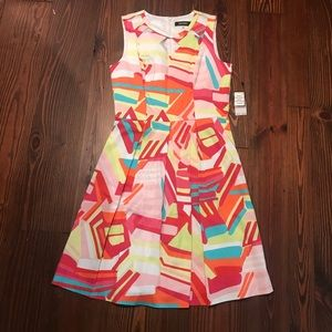 Nine West Candy/Tango Multicolored Dress
